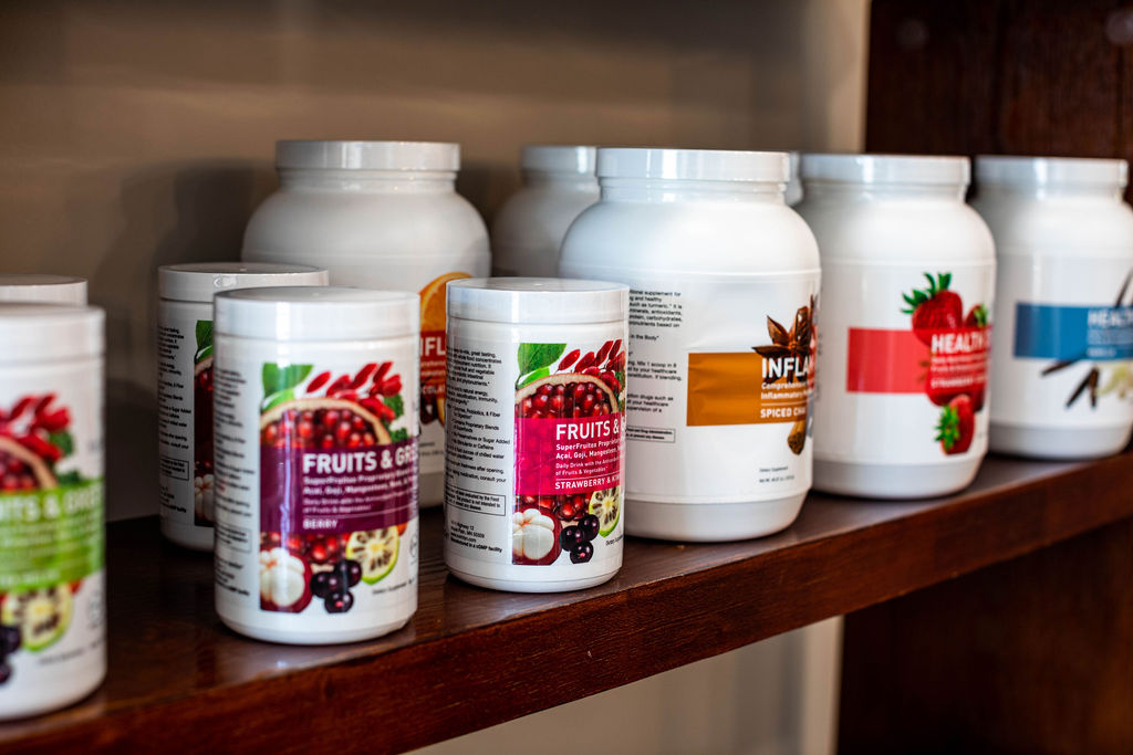 Nutritional products that fill the gaps that patients do not get from the food they eat such as probiotics, fish oils, multivitamins, and health drinks.