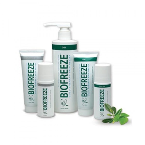 Biofreeze is a topical pain reliever that can be used for back pain, neck pain, and sore muscles on the body.